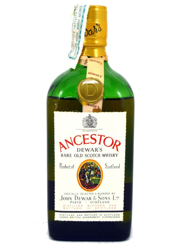 Ancestor Dewar's Rare Old Scotch Whisky - Años 70