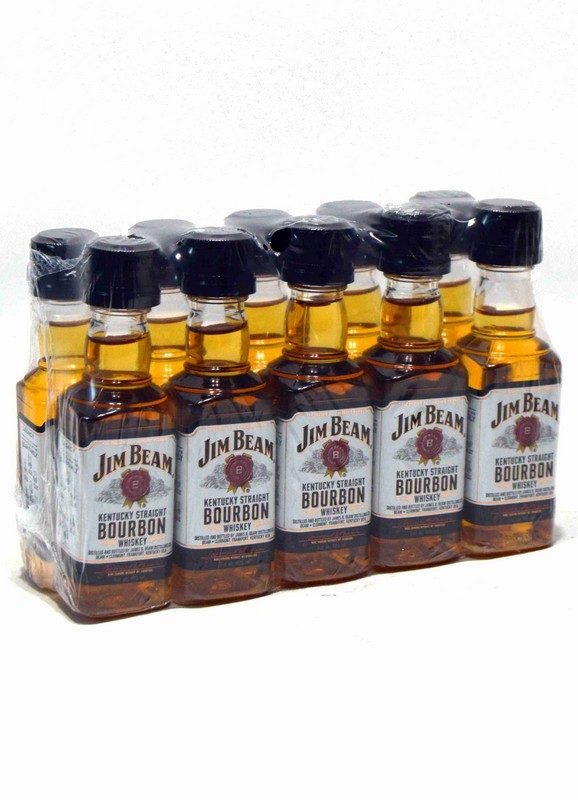 Jim Beam White Miniatura Pack de 10 uds.