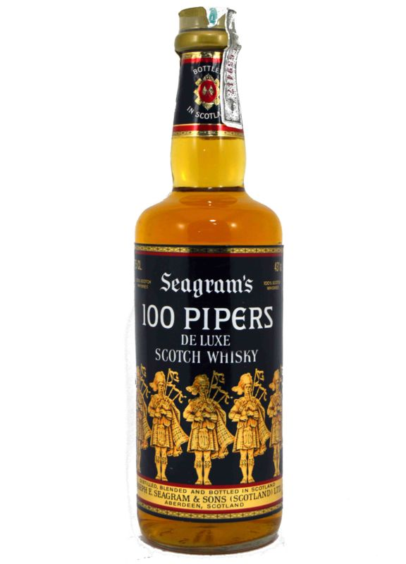 Whisky 100 Pipers - 75 CL. - Años 70